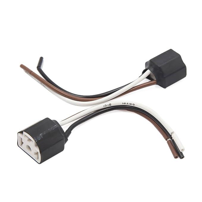 Sourcingmap Coche Luz Antiniebla Conector H4 Cableado Portalámpara ...