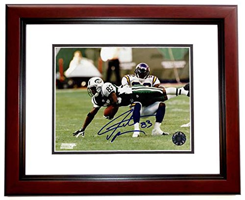 - Santana Moss Signed - Autographed New York Jets 8x10 inch Photo MAHOGANY CUSTOM FRAME - Guaranteed to pass PSA or JSA