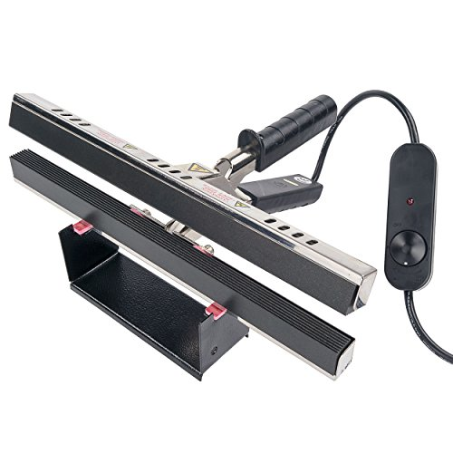 Absorbent Industries KF-300CS-110V Portable Hand Crimper Sealer, Constant Heat for Poly or Mylar/Foil Bags, 12