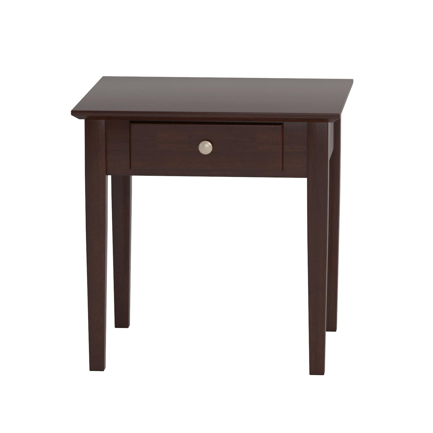 End table with drawer - Amazon Com Winsome Wood Rochester End Table With One Drawer Shaker Kitchen Dining
