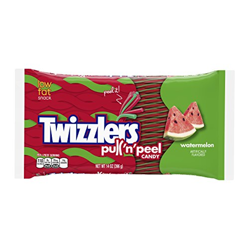 (TWIZZLERS Pull 'n' Peel Licorice Candy, Watermelon, 14 Ounce (Pack of 6) )