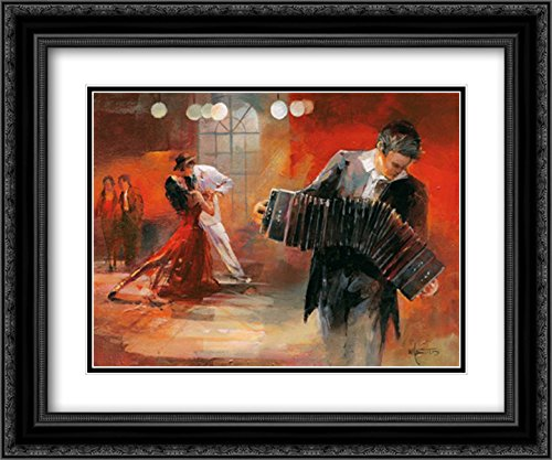 Photo Bandoneon 18x14 Black Ornate Frame and Double Matted Art Print by Haenraets, Willem