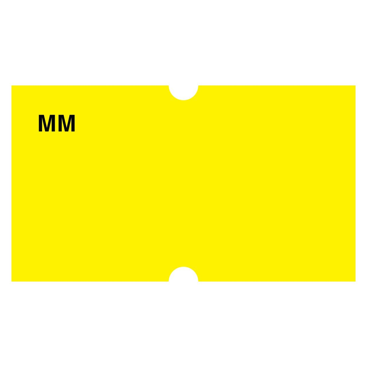 DayMark IT110434 MoveMark Date Coder Blank Removable Label, For DM3 SpeedyMark 10 1-Line Marking Gun, Yellow (Pack of 8 Rolls) by DayMark Safety Systems
