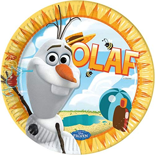 Procos S.A. 23cm Disney Frozen Olaf Summer Dinner Plates -