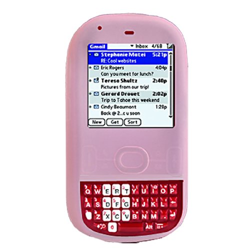 Pink Soft Silicone Skin Case Cover for Palm Centro 690