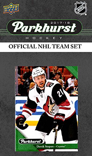 (Arizona Coyotes 2017 2018 Upper Deck PARKHURST Series Factory Sealed Team Set including Antti Raanta, Derek Stepan, Clayton Keller Rookie Card Plus)