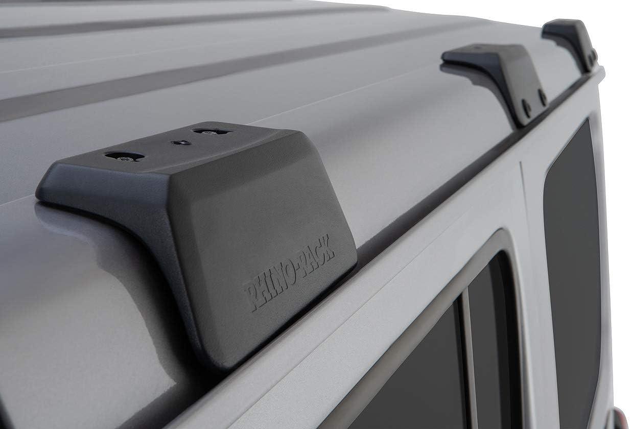 Rhino-Rack Jeep Wrangler JL 4WD SUV Hard Top 4 Door Internal Structure Roof Rack//Bare Backbone 3 Base Mounting System in Black