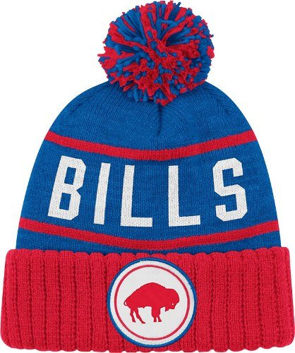 ... sweden buffalo bills mitchell ness nfl high 5 cuffed knit hat w pom  blue amazon sports 549abf17c2a