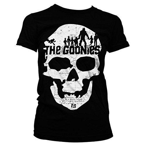 Goonies T Shirt Skull new Official Womens Junior Fit Black -