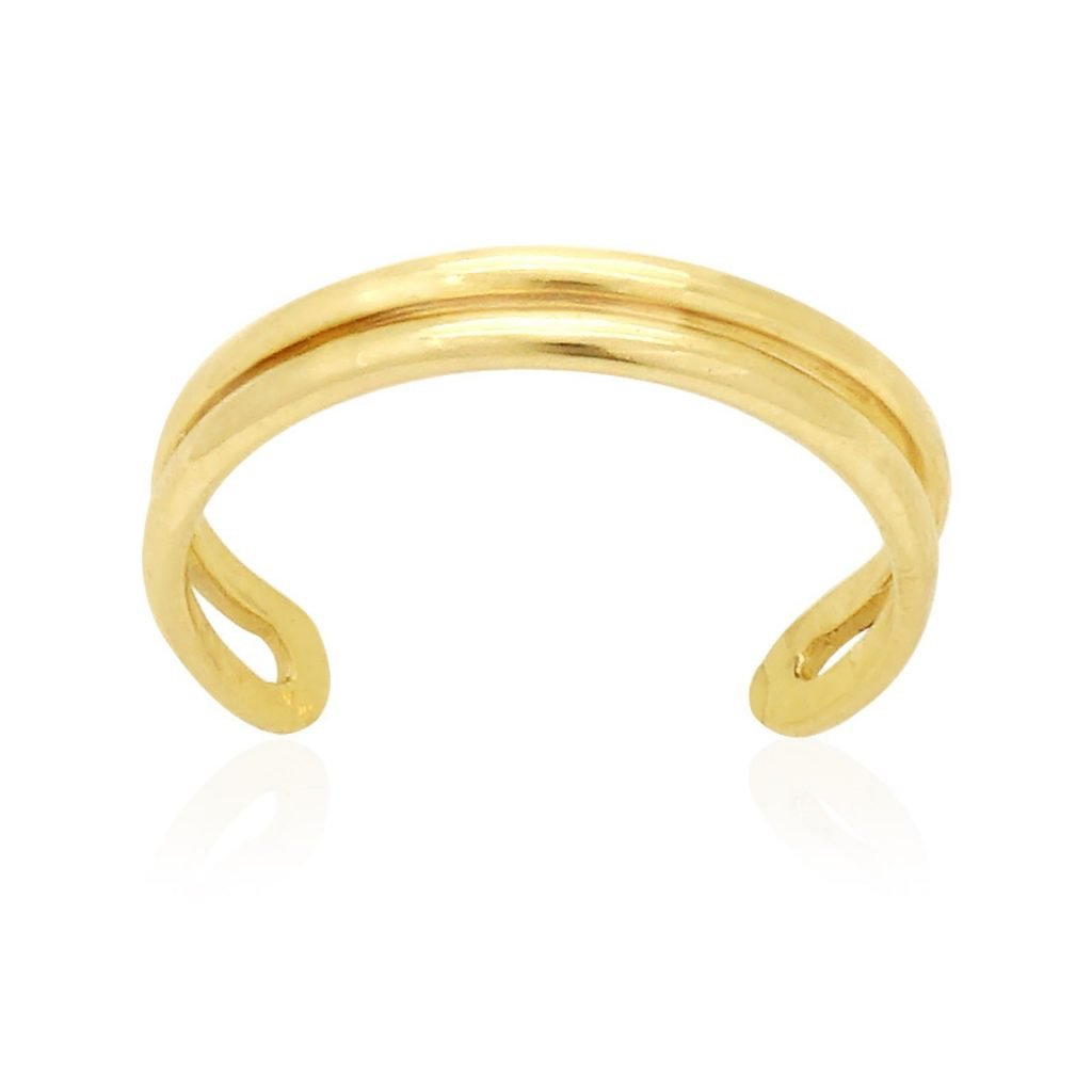 14k Yellow Gold High Polished Toe Ring Size 3 (Adjustable) WJD Exclusives WJDTR3
