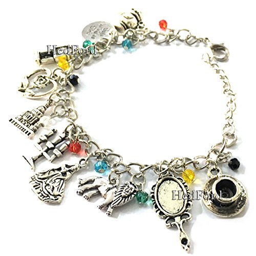 Beauty & The Beast Silver Charm Bracelet