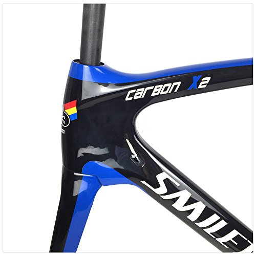 Smileteam T800 Full Carbon Road Bike Frame Carbon Racing Bike Road Bicycle Frameset With Fork + Seatpost + Clamp + BB386