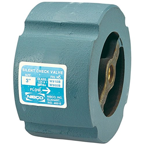 (NIBCO  W910B-LF/W960B-LF Silent Wafer Check Valve   Lead-Free, Class 125, Iron Body, Bronze Seat and Disc, 6