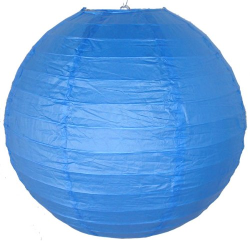 Just-Artifacts-16-Blue-ChineseJapanese-Paper-LanternLamp-16-Diameter-Just-Artifacts-Brand