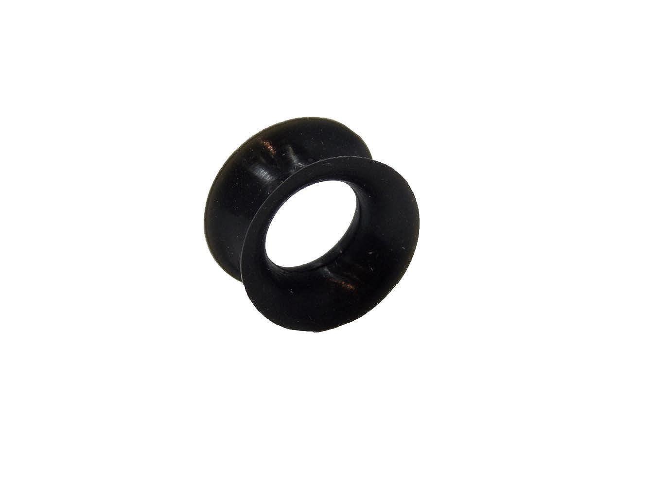Piercing-Plug de túnel para el lóbulo de la oreja en silicona negro de 10mm: Amazon.es: Joyería