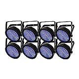 8 x Chauvet DJ SlimPAR 64 RGBA LED PAR Wash Light with DMX Control