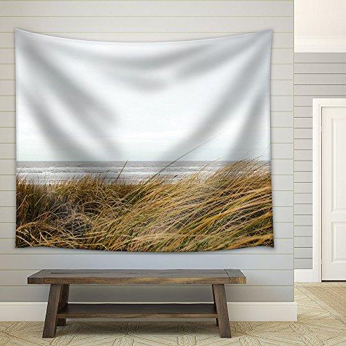Seashore with Grass Fabric Wall