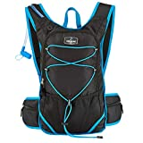 Running Bag Max Hydration Backpack With 2L Bladder and Thermal Insulated Pocket Keeps Water or Other Liquids Cool up to 4 Hours for Running, Hiking, Camping, any Outdoor Activity, in Black For Sale