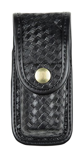 Mace Spray Pouch Basketweave - Bianchi AccuMold Elite 7907 Brass Snap Oc Spray Pouch (Basketweave Black, Small)