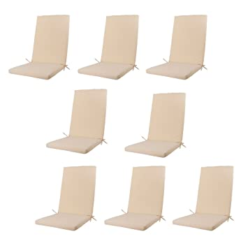 Edenjardi Pack 8 Cojines para sillones de jardín reclinables ...