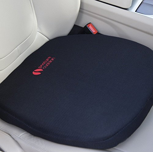 Posture Cushion - Super Thick Gel Feel Seat Cushion. Great For Modern Harder Car Seats. Prevent The Pain And Stiffness In Your Legs And Back When Sitting In The Car Home And Office. Available With Black Breathable Cover And Anti Slip Base. Great Quality And Value For Money.