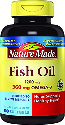 Nature Made Fish Oil 1200 mg w. Omega-3 360 mg Softgels 100 Ct