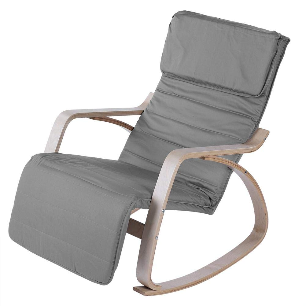 Rocking Relax Chair, Comfortable Rocking Lounge Adjustable Relax Chair Modern Home Office Furniture(Dark Gray) by EBTOOLS