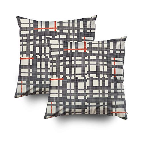 Art Pillow Case,Abstract seamless geometric pattern from stripes on texture background Endless pattern with stripes lattice can be used for ceramic tile wallpaper linoleum textile web page backgroundC (Lattice Stripe Wallpaper)