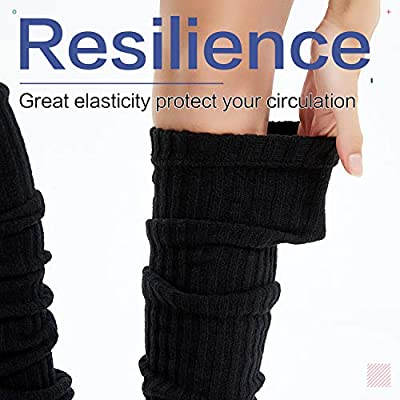 Kayhoma Extra Soft Over the Knee High Leg Warmer, Artificial Wool: Clothing