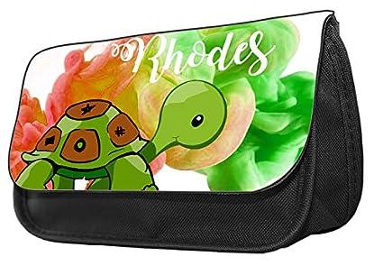 Estuche para lápices con diseño de tortuga Estuche de maquillaje, regalo de vuelta al cole.