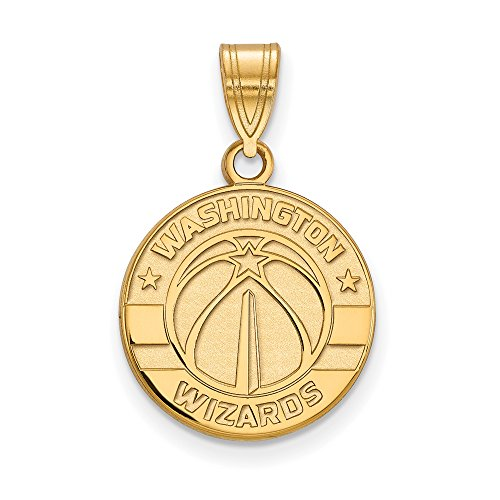 NBA Washington Wizards Medium Logo Pendant in 14K Yellow Gold by LogoArt