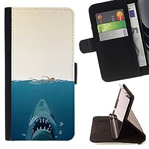 Momo Phone Case / Flip Funda de Cuero Case Cover - Shark Attack - Gracioso;;;;;;;; - Apple Iphone 5 / 5S