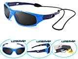 VATTER TR90 Unbreakable Polarized Sport Sunglasses For Kids Boys Girls Youth 816blueblue