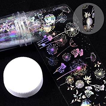 Amazon com: Nail art stickers - 4100cm/roll holographic foil flame