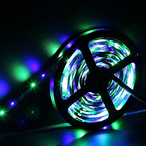 SUPERNIGHT-5M164-Ft-SMD-3528-RGB-300-LED-Color-Changing-Kit-with-Flexible-Strip-Light24-Key-IR-Remote-Control-Power-Supply