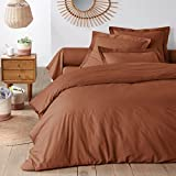 La Redoute Organic 100% Cotton Duvet Cover Red Size King (240 X 220Cm)