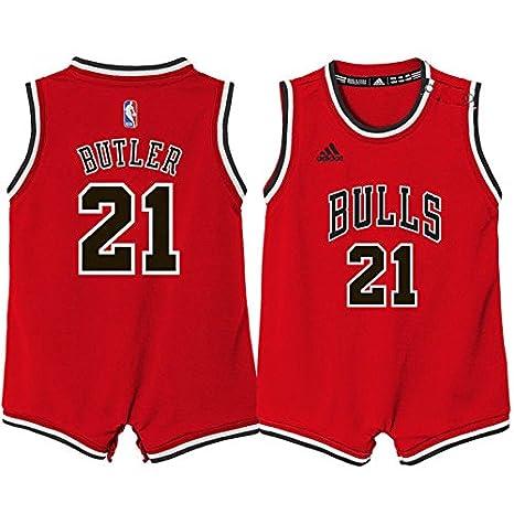 Adidas Chicago Bulls niño Jimmy Butler Rojo réplica de la Camiseta Body de 12 m: Amazon.es: Deportes y aire libre