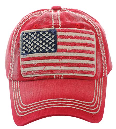 (Men's USA American Flag Patch Vintage Ball Cap)