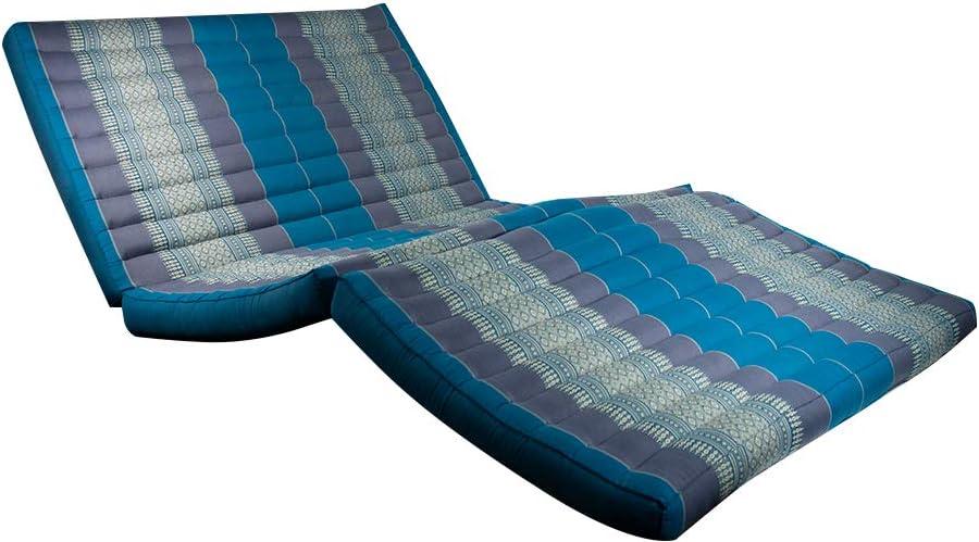 Masaje tailandés, alfombra azul/gris: Amazon.es: Jardín