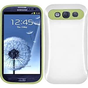 GLOW in the Dark Luminus Hybrid Case Cover For Samsung Galaxy S3 - Neon Green, White