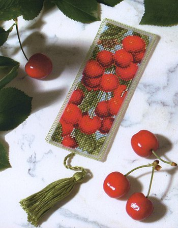 Royal Paris Les Cerises Bookmark Cross Stitch - Royal Needlepoint Paris
