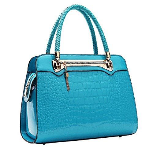 MYLL Pattern Fashion Crocodile Tracolla Dinner Paint Bag Individuality Surface Handbag Bag Clutch Blue1 Borsa A Blue2 Ladies grfx7Sg