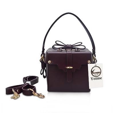 e77d8d8bb88f Yoome Crossbody Purses Rivet Cute Bags with Bowknot for Girls Shoulder  Handbags Designer Bags For Women
