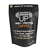 Cheap WarmUp Coffee Protein Powder | All-Natural Caffeinated Protein Powder with Espresso Coffee and Hydrolyzed Whey Protein | Gluten, Soy and Lactose Free | Low Carb and Keto Coffee | Unsweetened