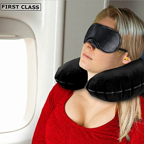 Buy Cheap Travel Pillow Inflatable for Sleeping and Head Rest Neck Pillows with Comfort Eyemask and ...