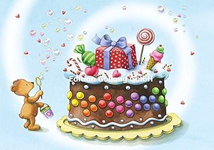 Tarjeta de felicitación para cumpleaños infantiles * Nina ...