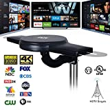 ANTV Amplified Outdoor HDTV Antenna, 360° Omni-Directional VHF/UHF Enhanced Reception Fit Indoor/Outdoor/RV/Attic Use, 70 Miles Long Range TV Antenna with 33ft High Gain coaxial Cable