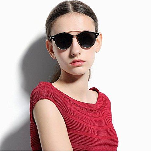de – de espejo Negro Redondas elegantes redondas Polarizadas – gafas Gafas sol polarizadas espejo baratas gafas de De sol baratas mujer Espejo De Sol polarizadas de sol gafas sol gafas Gafas ZwSfF