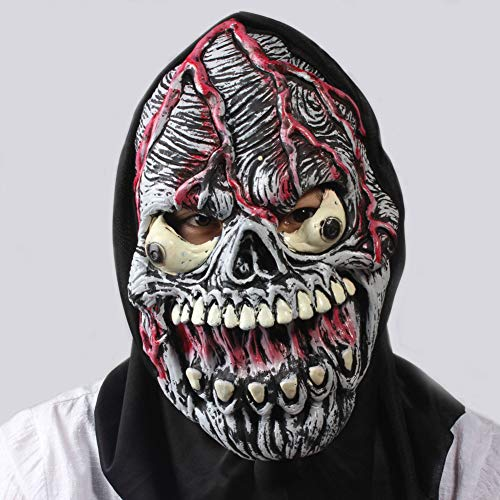 WQYRLJ Zombie Mask, Masquerade Horror Mask, Sugar Skull Mask, Creepy Halloween for Adults Party Decoration Props