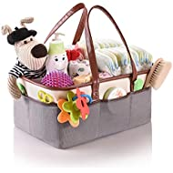 Baby Diaper Caddy Organizer by Oranzer - Your Neatly Organized Nursery Storage Basket for Changing Table, Car, Outdoors - Large Portable Diaper, Wipes Holder - Girl Boy Gift for Newborn Registry